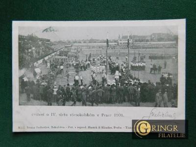 Praha - Sokol - 1901 - Cvičení IV. Všesokolský slet