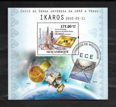 Mosambik 2010 - kosmos - japonské sondy JAXA, Venus a Ikaros