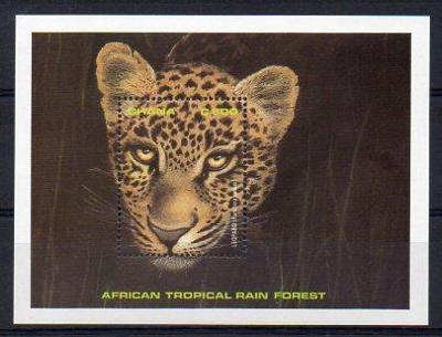 Ghana-Pralesní fauna 1990** Michel Bl.159 / 11 €
