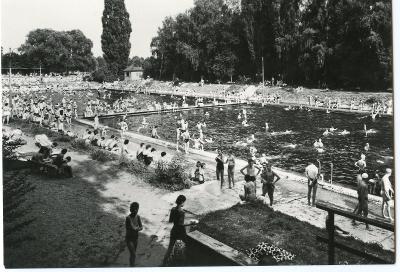 Olomouc - koupaliště, Orbis, ČSSR, zajímavý záběr