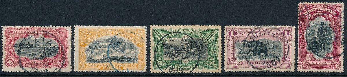 Belgické Kongo 1894 ʘ/Mi. 15-19 , Svobodný stát Kongo , /L15/