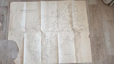 Stará mapa okresu Kutná Hora cca 1940-1950