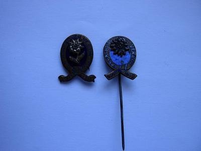Odznak - Karpaten verein 1873 - 2 ks - vzácne