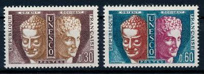 Francie  **/ 1961 Mi.4-5 , služební , komplet   , /N1/