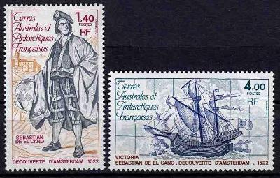 Fr. Antarktida 1980 **/Mi.142-3 komplet loď /B2/