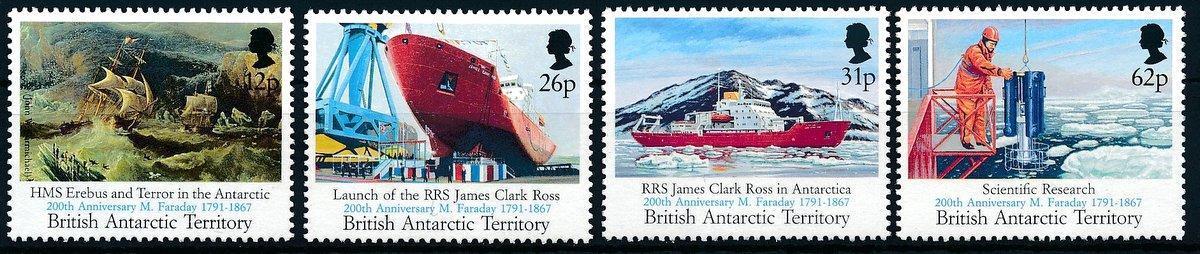Britská Antarktida 1991 **/Mi. 189-92 , komplet , loď , přítisk, /L22/