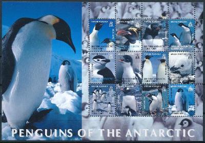 Britská Antarktida 2003 **/Mi. 369-80 , aršík , tučňáci I. , /L22/