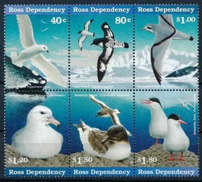 Antarktida , Ross Dependensy 1997 **/Mi.44-9 , soutisk , ptáci  /L22/
