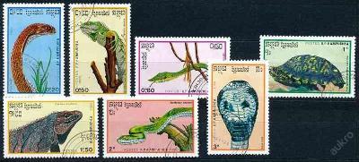 Kambodža 1988 o/ Mi. 983-9 , komplet , plazi ,  /ZV/