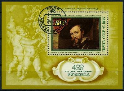 SSSR 1977 ʘ/Mi. Block 118 , Rubens ,  /E3/