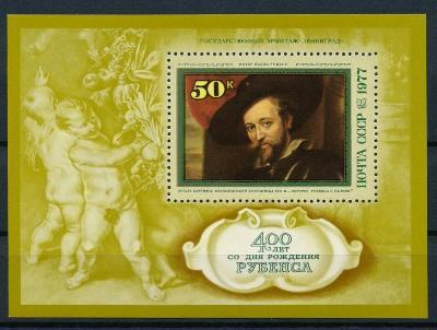 SSSR 1977 **/Mi. Block 118 , Rubens ,  /E3/