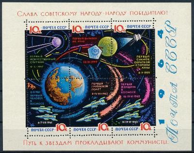 SSSR 1964 **/Mi. Block 34 y Type II. lakovaný papír , komplet , /L14/