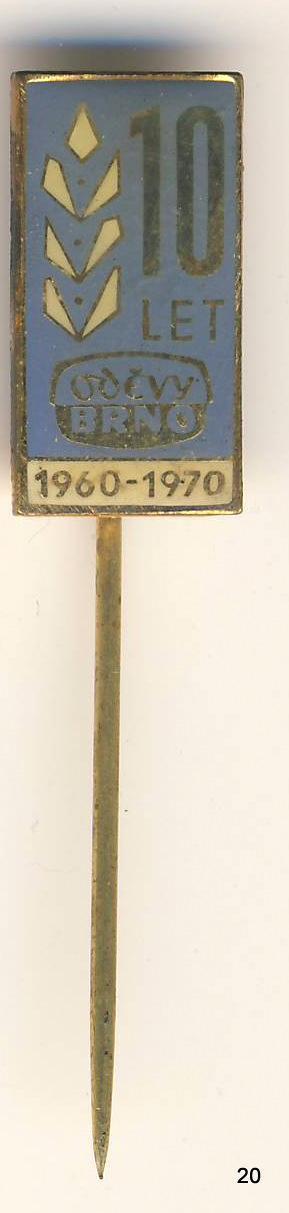 Odznak - Brno , ODĚVY , /ms/