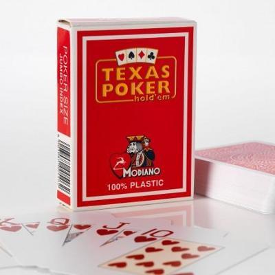 Plastové karty 100% Modiano Texas Holdem Poker Jumbo Index