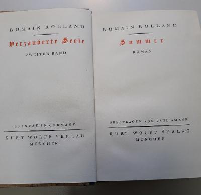 -- ROMAIN ROLLAND - VERZAUBERTE SEELE  + SOMMER 1924 --