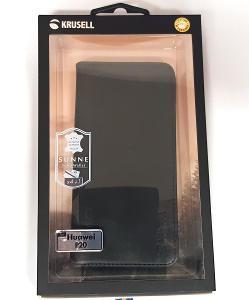 Krusell flipové pouzdro SUNNE 4 Card pro HUAWEI P20, černá