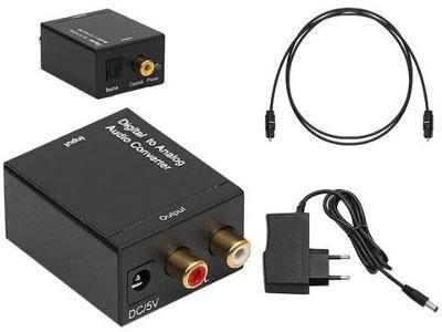 Převodník z digitálního signálu SPDIF a optického na 2x CINCH + dárek