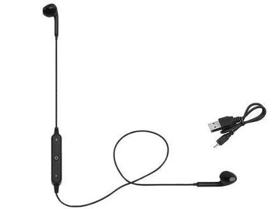 Bezdrátová sluchátka Bluetooth Black+ dárek