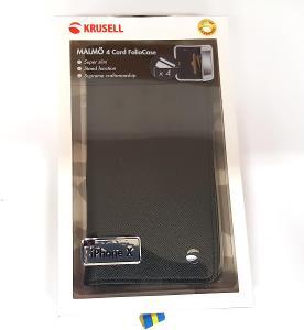 Krusell flipové pouzdro MALMÖ FolioCase pro Apple iPhone X, černá