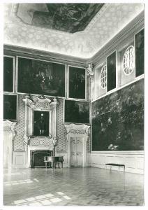 Duchcov, zámek, portréty Valdštejnů, freska Reinera