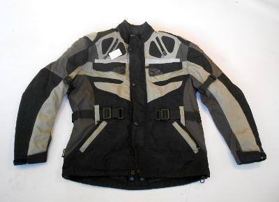 Textilní bunda vel. L -  termovložka, chrániče, odvětrávání, reflexy
