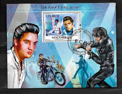 Mosambik 2009 - Elvis Presley, Elvis na motorce
