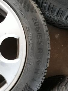 Kompletní alu kola pro AUDI A6/A4 ( 2003 ) se zimní pneu 205/55R16