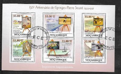 Mosambik 2009 - malíř Georges-Pierre Seurat