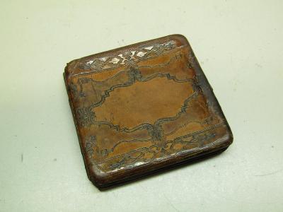 Starožitná kožená krabička na cigarety