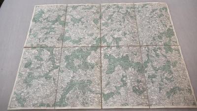 Stará vojenská mapa 1928-Pelhřimov-Počatky-Kamenice-Pacov-Deštná