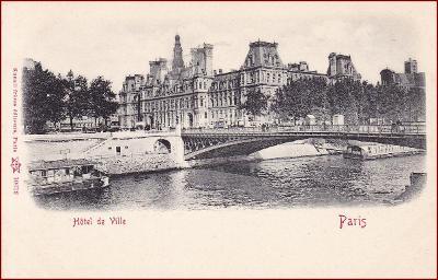 Paris * Hotel de Ville, most, část města, Stengel * Francie * Z365