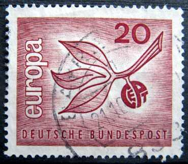 BUNDESPOST: MiNr.484 Leaves and Fruit 20pf, Europa Issue 1965