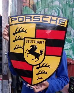 Smaltovana nemecka  cedule PORSCHE  auto moto veteran