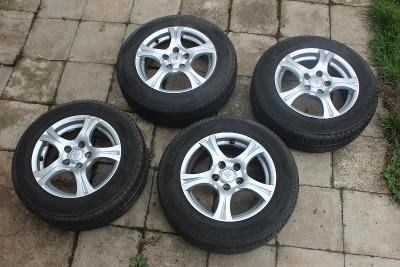 Sada Alu kola + letní pneu, 15'', 5x110, Opel Astra