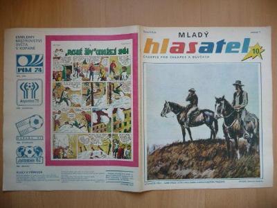 Časopis - Mladý hlasatel - ročník 1. - číslo 10. ze srpna roku 1990