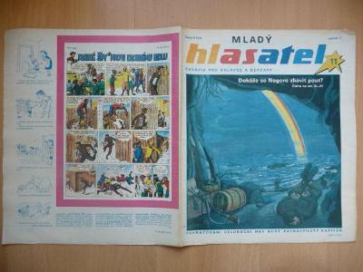 Časopis - Mladý hlasatel - ročník 1. - číslo 11. ze srpna roku 1990