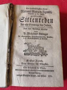 Stará, cizojazyčná kniha z roku 1775...(9529)