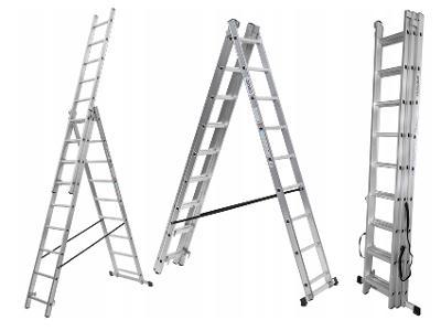 Hliníkový žebřík 3x11 VYSOKÝ pro schody - 7,90 m
