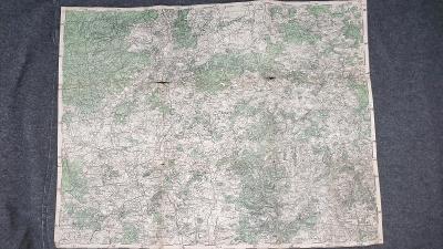 Vojenská mapa cca 1930-Příbrám-Předbořice-Drahenice-Kovářov-Milešov