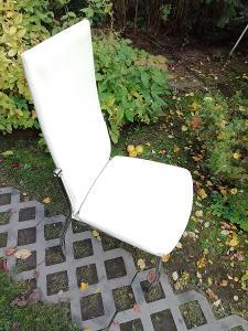 4x starší židle IKEA - nohy chrom - pro nenáročné -jen osobní převzetí