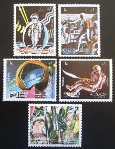 Šardžá 1972 Mise Apollo 17 Mi# 988-92 1229