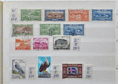 ISLAND OD 1925 KOMPLET SÉRIE + CENNÉ TOLLUR RAZÍT. KATALOG min. 91 EUR
