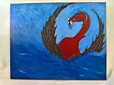 Dračí zjevení -  akryl plátno