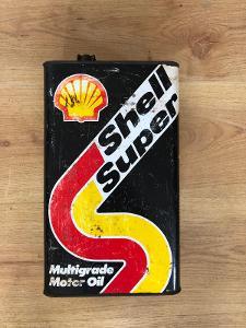 Stará plechovka Shell Super velká 5l