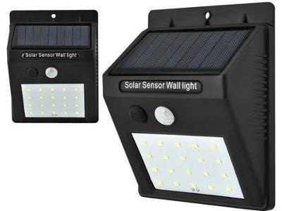 Solární světlo 20 LED Senzor pohybu Venkovní svítidlo + dárek