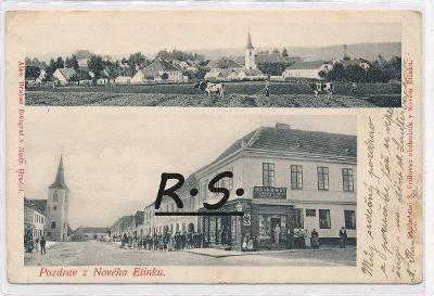 Nová Včelnice 1904 - Jindřichův Hradec  , /FX/
