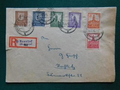 R-Dopis - 1946 - Neunhof - Deutsche  Post - Německo