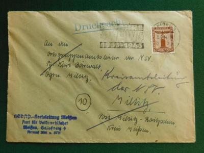 Dopis - Deutsches Reich - Německo  - Praha