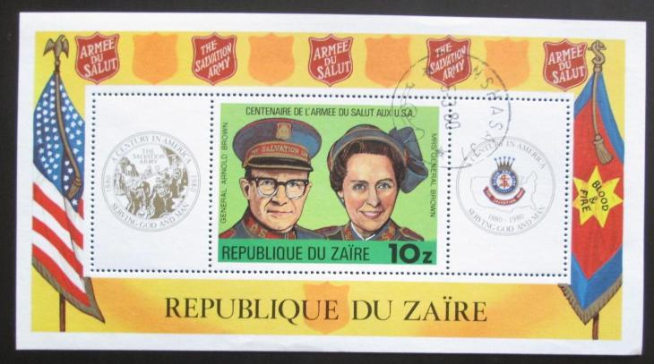 Kongo Dem., Zair 1980 Armáda spásy Mi# Block 34 Kat 8.50€ 1729 - Filatelie