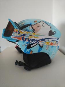 Lyžařská přilba TecnoPro (dětská) + brýle Uvex (dětské)